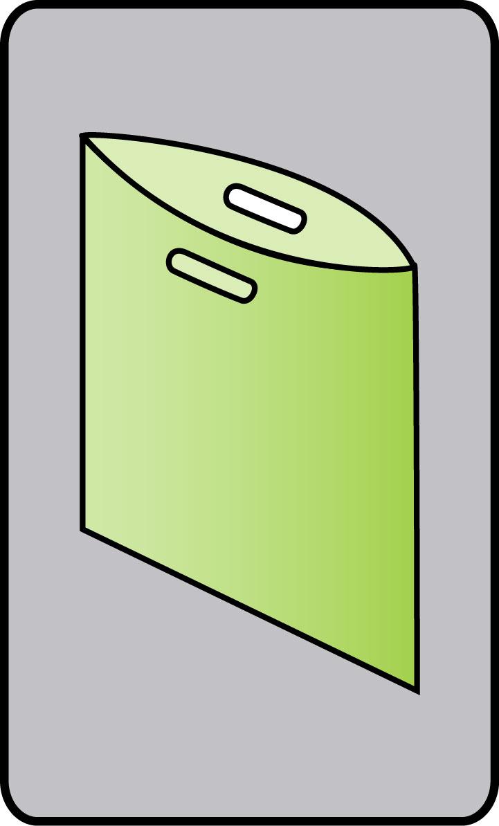 Poignée decoupée simple sans soufflets